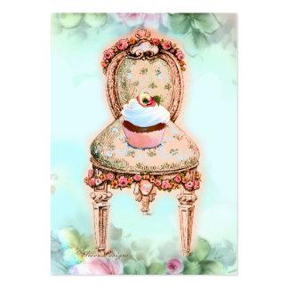 Cartão de visita cor-de-rosa do negócio da padaria