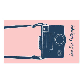 Cartão de visita cor-de-rosa e azul feminino da