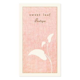 Cartão de visita cor-de-rosa e feminino do