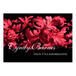 Cartão de visita cor-de-rosa e preto do rolo do Ac