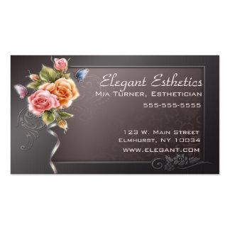 Cartão de visita cor-de-rosa elegante
