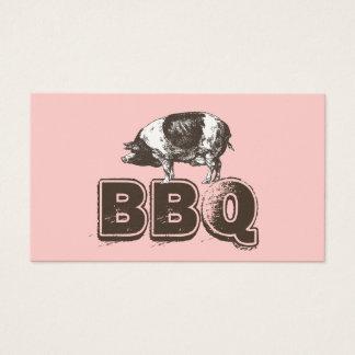 Cartão de visita cor-de-rosa liso da carne de