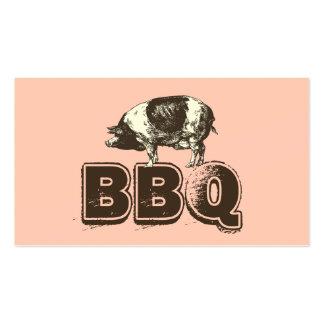 Cartão de visita cor-de-rosa liso da carne de porc