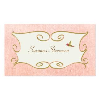 Cartão de visita cor-de-rosa lunático e feminino