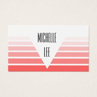 Cartão de visita cor-de-rosa milenar da listra de