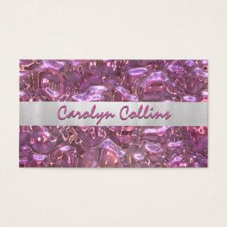 Cartão de visita cor-de-rosa moderno do olhar da
