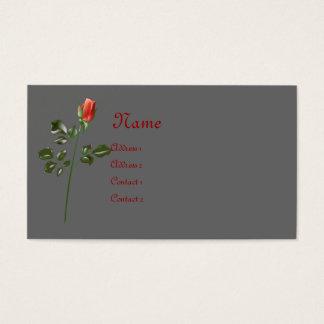 Cartão de visita cor-de-rosa por muito tempo