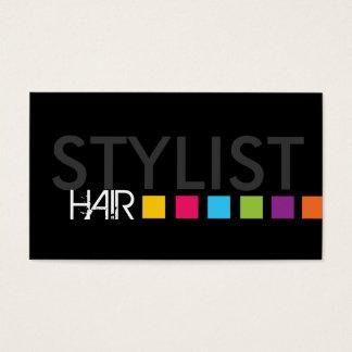 Cartão de visita corajoso do cabeleireiro