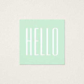 Cartão de visita corajoso moderno minimalista