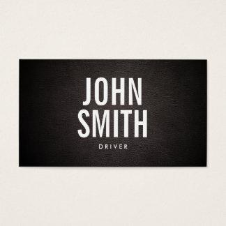 Cartão de visita corajoso simples do motorista do