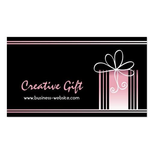 Cartão de visita criativo da loja de presentes