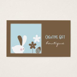 Cartão de visita criativo do boutique do presente