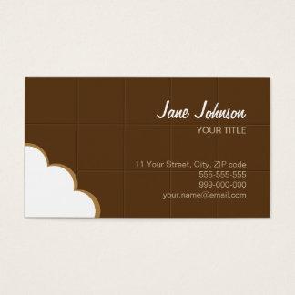 Cartão de visita criativo engraçado da mordida do