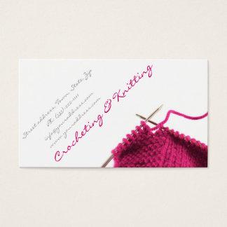 Cartão de visita Crocheting & de confecção de