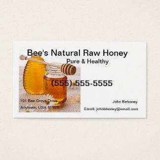 Cartão de visita cru do mel