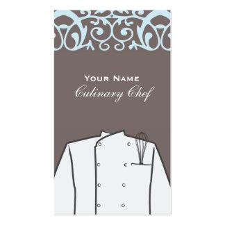 Cartão de visita culinário do cozinheiro chefe