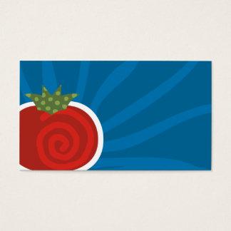 cartão de visita culinário do teste padrão do