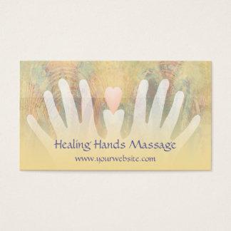 Cartão de visita cura da massagem das mãos