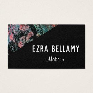Cartão de visita customizável acentuado artístico