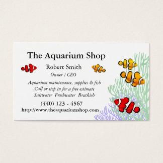 Cartão de visita customizável de Clownfish do