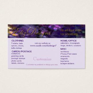Cartão de visita customizável de Zazzle