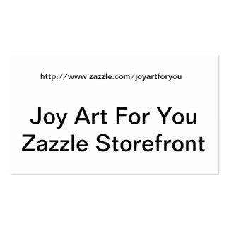 Cartão de visita customizável de Zazzle Strorefron