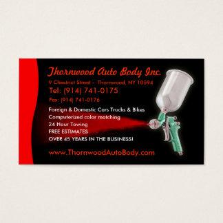 Cartão de visita CUSTOMIZÁVEL do auto corpo