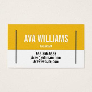 Cartão de visita customizável do bloco da cor