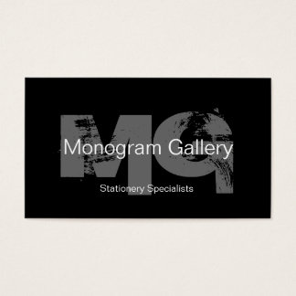 Cartão de visita customizável do monograma