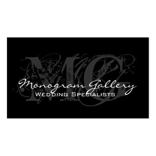Cartão de visita customizável do monograma elegant