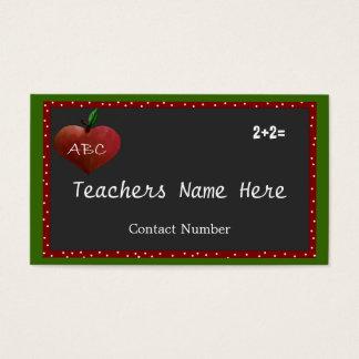 Cartão de visita customizável dos professores