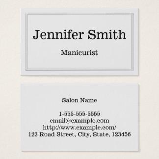 Cartão de visita customizável & limpo do manicuro