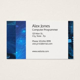 Cartão de visita customizável moderno da