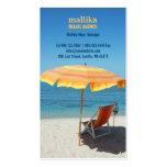 Cartão de visita da agência de viagens