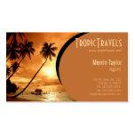 cartão de visita da agência de viagens da ilha do
