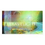 Cartão de visita da agência de viagens de Travelig