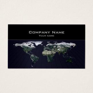 Cartão de visita da agência de viagens do mapa do