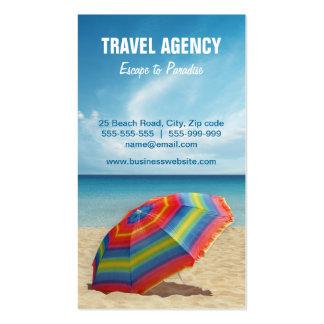 Cartão de visita da agência de viagens/operador tu