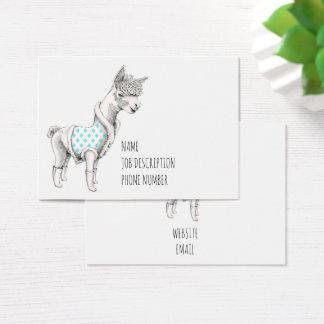 Cartão de visita da alpaca
