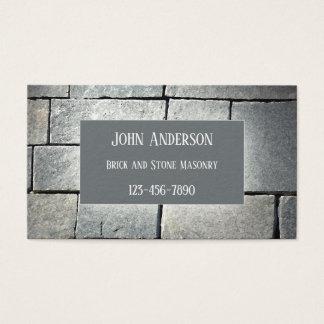 Cartão de visita da alvenaria de pedra do pedreiro