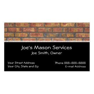 Cartão de visita da alvenaria do pedreiro do tijol
