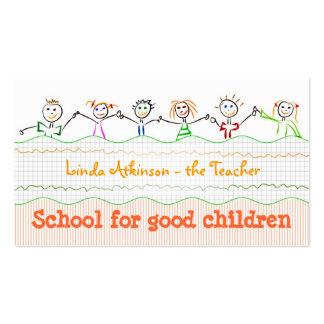 cartão de visita da amizade das crianças