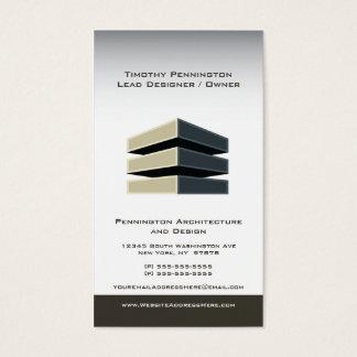 Cartão de visita da arquitetura e do design da