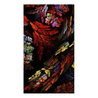 Cartão de visita da arte abstracta da harmonia da