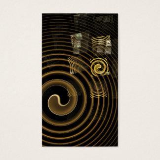 Cartão de visita da arte abstracta da hipnose