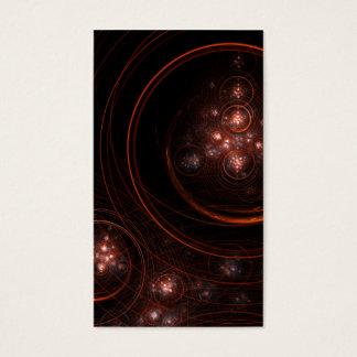Cartão de visita da arte abstracta da luz das
