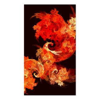 Cartão de visita da arte abstracta de Firebirds da