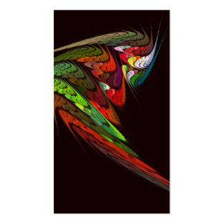 Cartão de visita da arte abstracta do camaleão