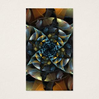 Cartão de visita da arte abstracta do Pinwheel