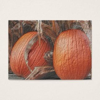 Cartão de visita da arte da natureza das abóboras